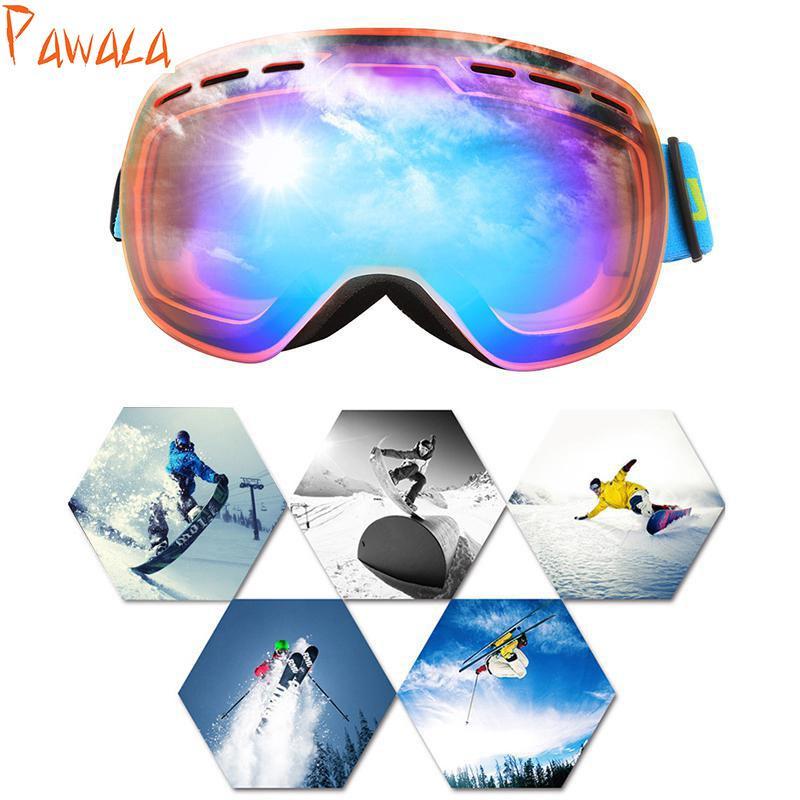 Compre Óculos De Esqui De Inverno Esportes De Neve Snowboard Com Anti Fog  Proteção UV400 Homens Mulheres Juventude Snowmobile Esqui Patinação Máscara  De ... 72b206ea2b