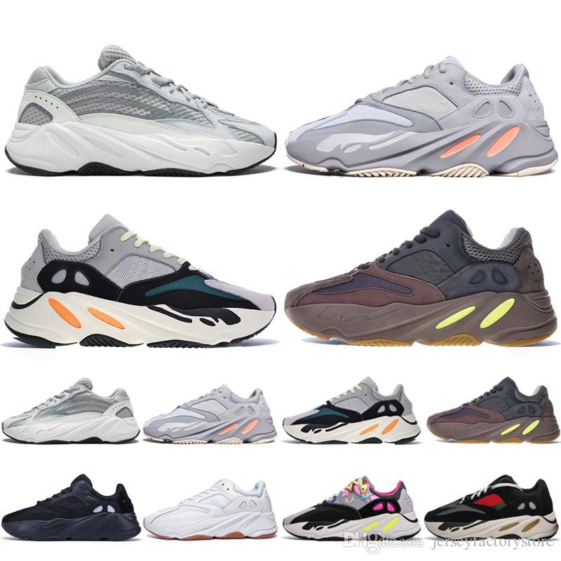 a3611d07cc044 Kanye West 700 V2 Static 3M Mauve Inertia 700s Wave Runner Mens Running  Shoes For Men Women Sport Sneakers Designer Trainers Boots Eur 36 46 Trail  Running ...