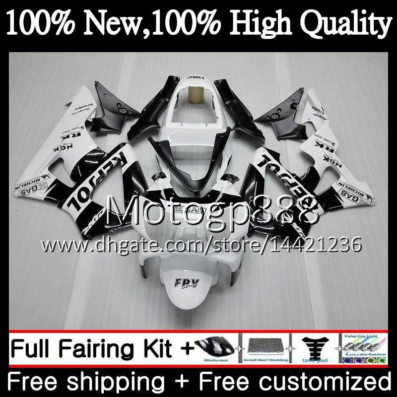 Body For HONDA CBR900 RR CBR 929RR CBR 900RR CBR929RR 00 01 54PG20 Repsol white CBR 929 RR CBR900RR CBR929 RR 2000 2001 Fairing Bodywork