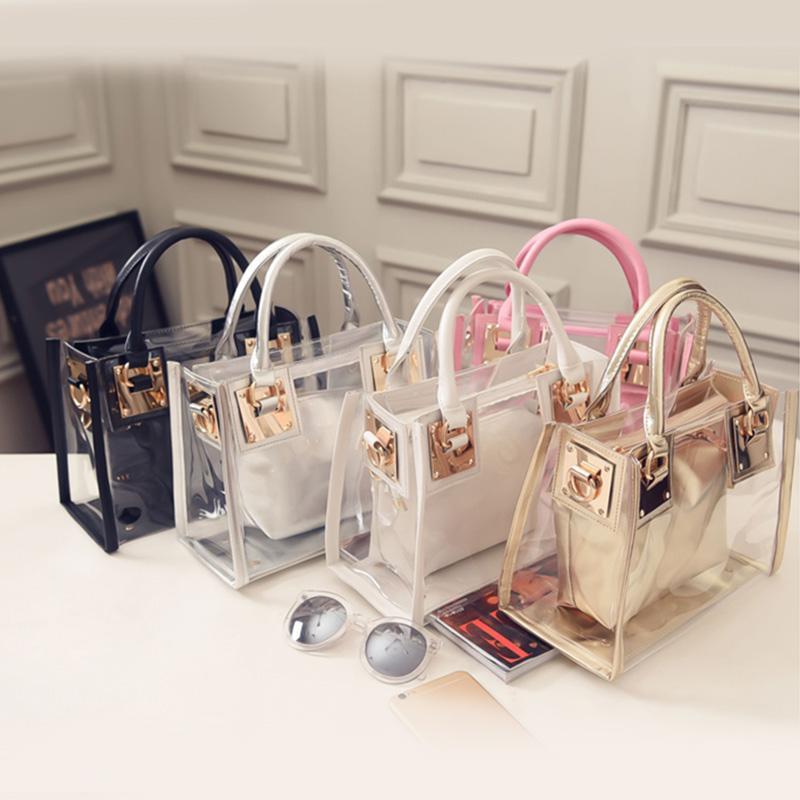 91dc3939ed 2017 New Fashion Women Clear Transparent Shoulder Bag Jelly Candy Summer  Beach Handbag Woman Messenger Bags Bolsa Feminina Fashion Bags Designer  Handbags On ...