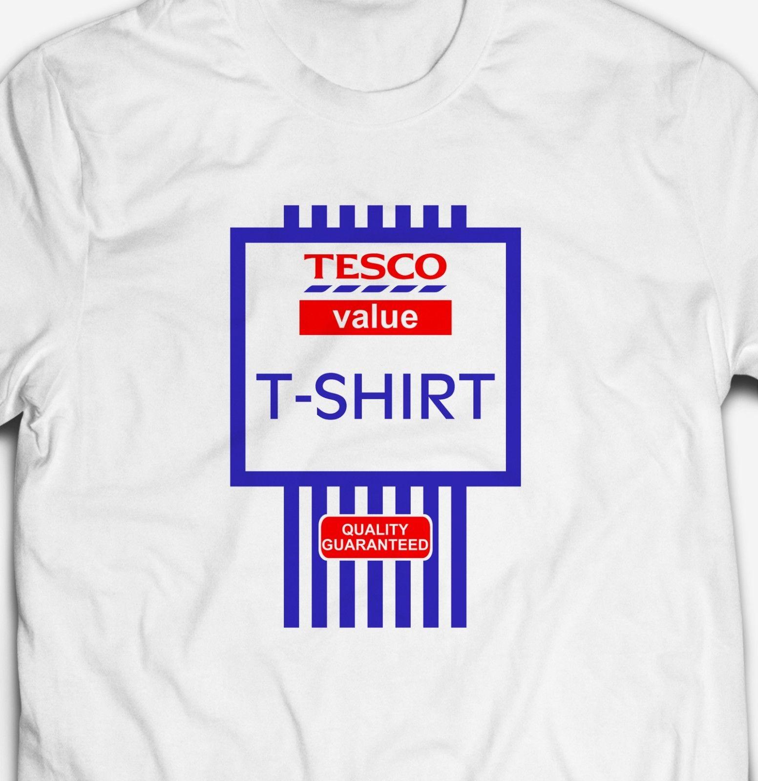 5624525e28417 FUNNY TESCO VALUE RETRO PRODUCT LABEL JOKE Mens Fit 100%Cotton Tees Custom  Jersey T Shirt Shop Online T Shirts T Shirt From Mooncup, $16.24| DHgate.Com