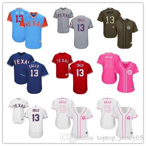 on sale d9153 4d37b 2018 top Texas Rangers Jerseys #13 Joey Gallo Jerseys men#WOMEN#YOUTH#Men's  Baseball Jersey Majestic Stitched Professional sportswear
