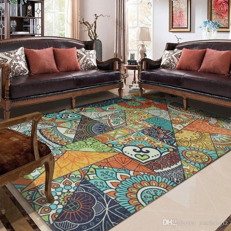 Vintage Art Stile etnico Soggiorno Tappeto Home Decor Camera da letto  Tappeto Divano Tavolino Tappeto Sala studio Area Tappeti Bambini Tatami ...