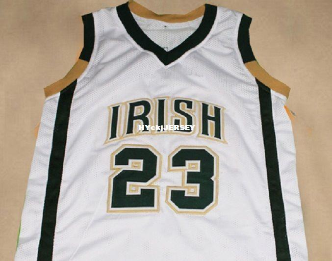 Pas cher Mens LEBRON JAMES IRISH HIGH SCOLAR JERSEY BLANC NOUVELLE TAILLE XS - 5XL Retro Basketball Jersey