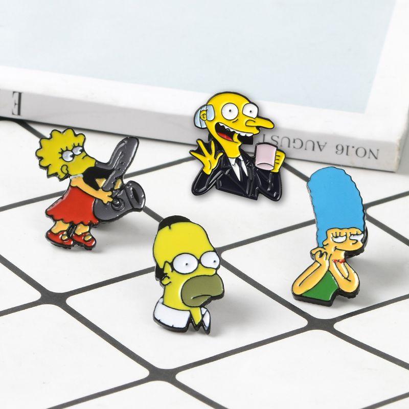 ee4ce4ae7f Acquista Anime Pins Cartoon Animation Character Marge Homer Lisa Mr. Burns  Collezione Spille Famiglia Smalto Pin Badge Gioielli Cartoon A $33.36 Dal  Biasone ...