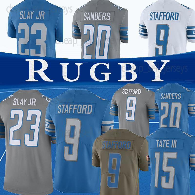reputable site 9f64c 645c5 20 Barry Sanders 23 Darius Slay jr Detroit 9 Stafford Lion jersey Mens 15  Golden Tate III Football Jerseys top quality