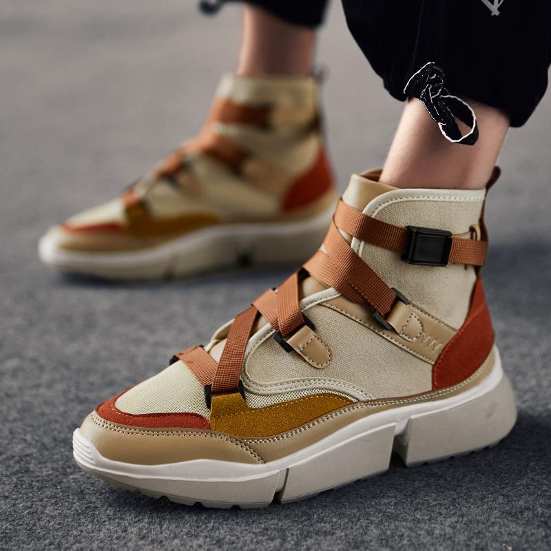 Compre INS Vintage Papá Zapatos 2019 Nueva Moda Kanye West Luz Transpirable  Hombres Hebilla Casual Botas Zapatillas Hombre Lienzo Tenis Masculino A   48.74 ... 7bf7caab0f61