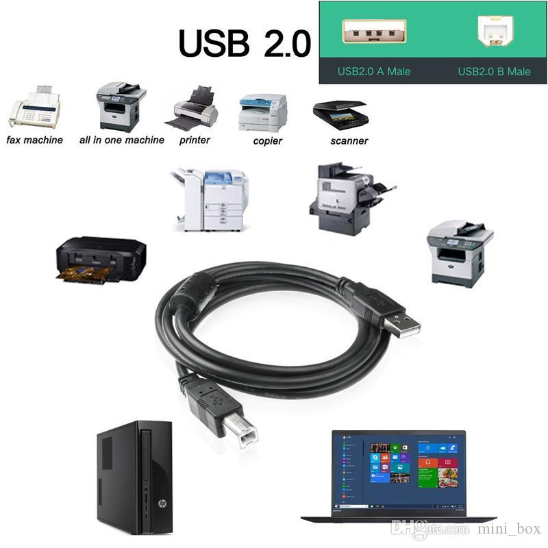 USB 2.0 طابعة كابل نوع ذكور إلى B Male Data موصل أجهزة USB ل Printer PC Scanner