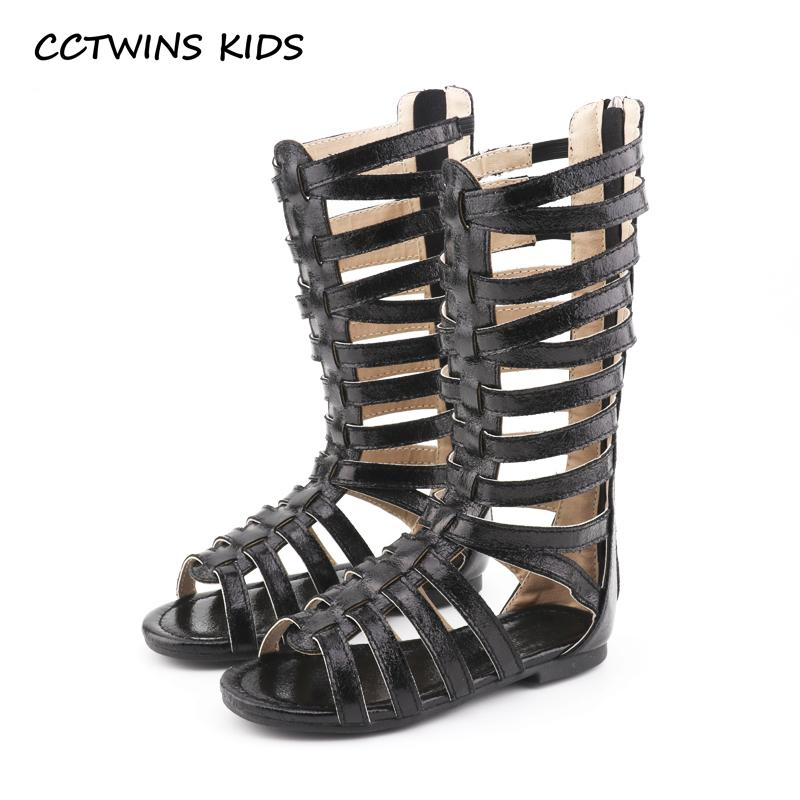 80d0480ee0e CCTWINS KIDS 2018 Summer Baby Girl Knee High Gladiator Sandal Kid Fashion  Soft Flat Children Beach Gold Shoe Toddler BG063 Toddler Sneakers For Boys  Kids ...