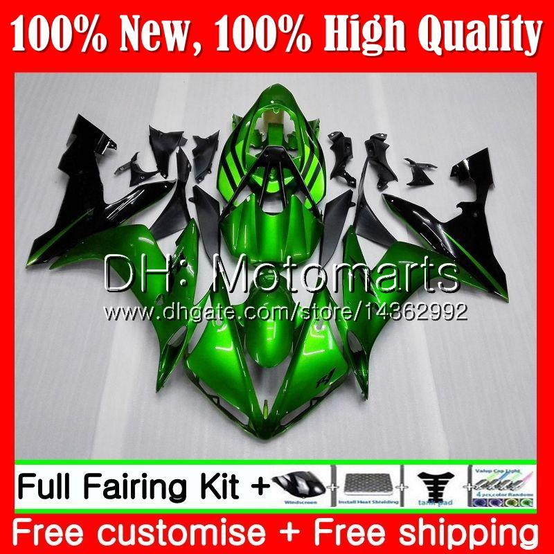 Body For YAMAHA YZF R 1 YZF-1000 YZF 1000 YZFR1 04 05 06 97MT13 YZF1000 YZF R1 04 06 YZF-R1 2004 2005 2006 Glossy green Fairing Bodywork