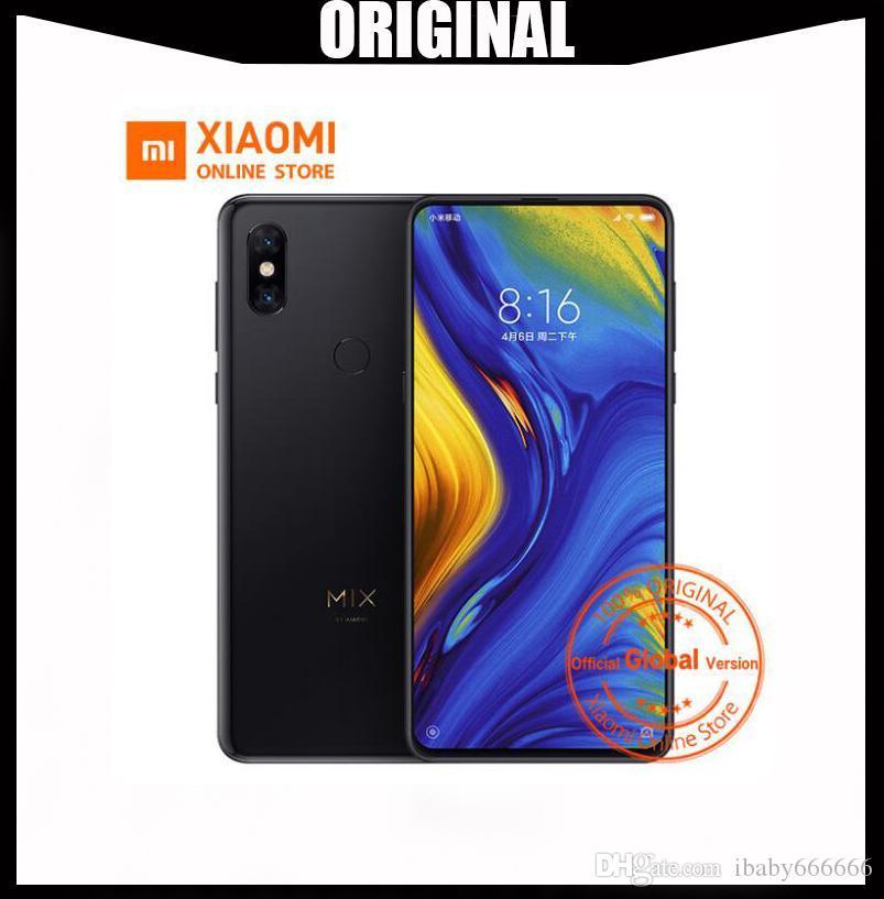Original Xiaomi Mi Mix 3 Mix3 8GB 256GB Snapdragon 845 6 39'' AMOLED Mobile  Phone 2 Front & 2 Back Cameras Wireless Char