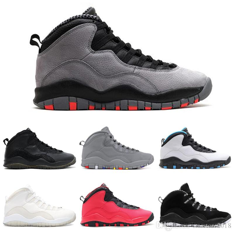 8b5ac7115ca871 Hot Sale 10 10s Cement Chicago Bobcats Men Basketball Shoes Thinker ...