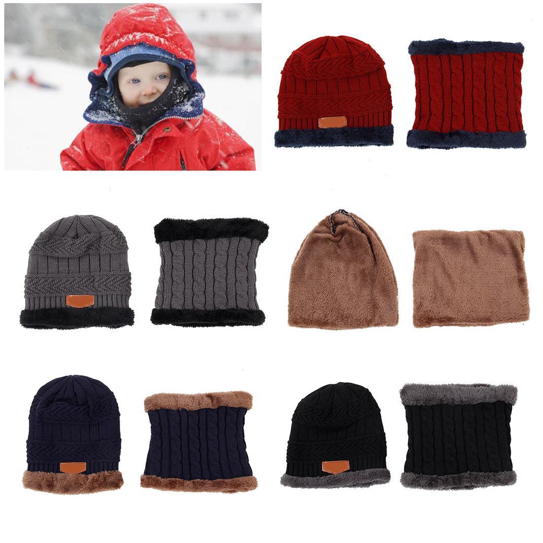 Compre Hot Parent Child Conjunto De Bufanda Con Sombrero De Invierno ...