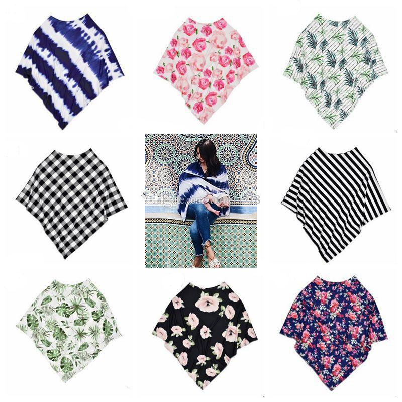 Nursing Cover Poncho Stroller Car seat cover Maternity top Swaddle Multi Functional Nursing Poncho Cover Full Coverage L094