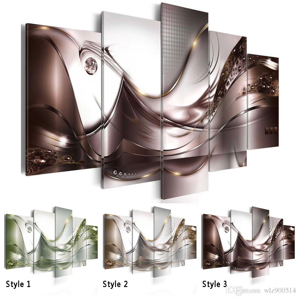 Hot Sell( No Frame ) Canvas Print Modern Fashion Wall Art the Abstract lines for Home Decoration Choose Color & Size