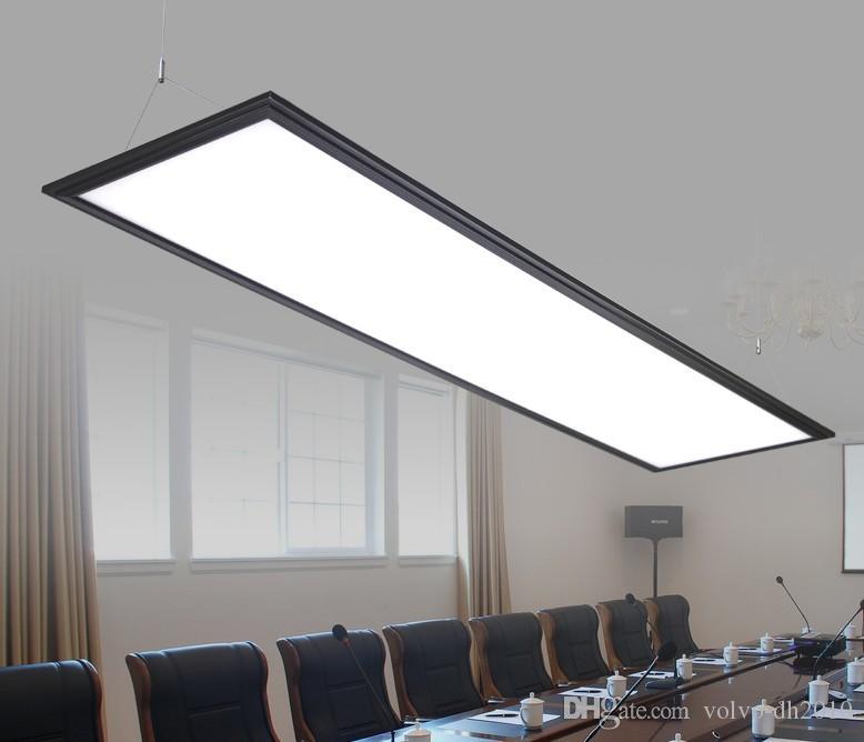 Modern Black Led Panel Light Panel Light Led Integrated Ceiling Lamp Office Chandeliers Office Lights Acryl Flat Lamp Simple Led Llfa