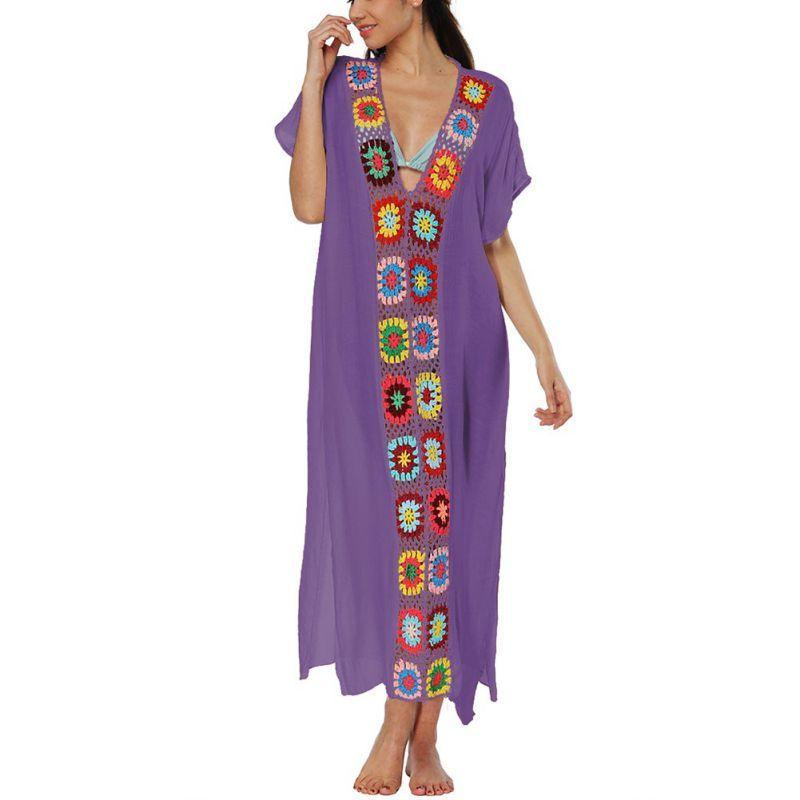 e6bc87416d One Size Beach Outings Chiffon Robe Plage Candy Color Kaftan Dress Pareos  For Women Beach Tunic Sarong Swimsuit C19041001