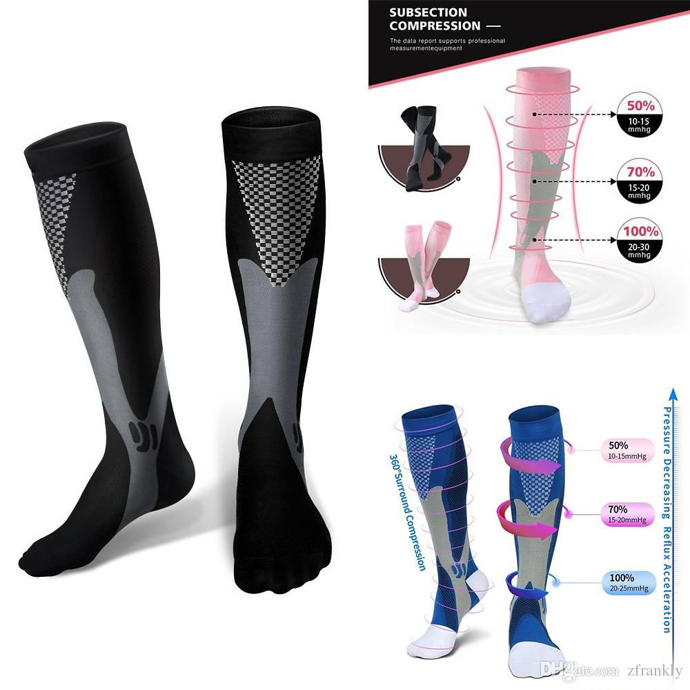 1f8b55170206e Compression Socks for Men Women Running Socks for Running Nurses Shin  Splints Flight Travel 5 COLORS
