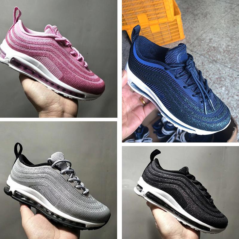 Nike air max 97 Niños Niñas Niños Sean Wotherspoon 1 97 zapato de pana y padre con varios hijos Niños zapatillas de deporte Zapatillas deportivas