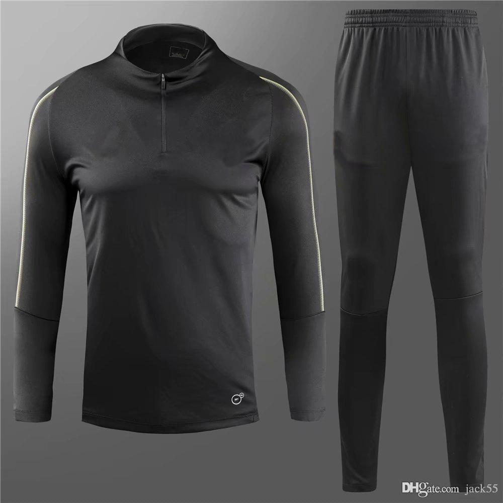 63a81a7919e 2019 aaa+ 2018 2019 ac milan black soccer jogging tracksuit 18 19