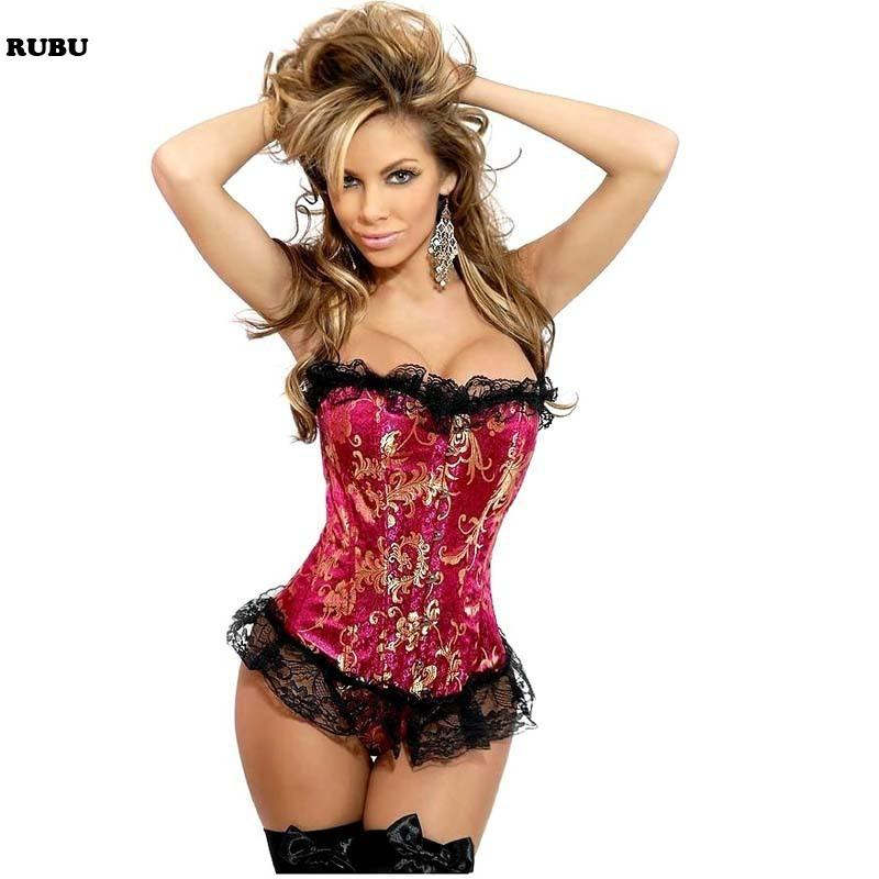 2016 New Sex Lace 14Plastic Bone Gilding Waist Corset Everyday Cincher Slimming Appliques Shapewear Two Colors Bodysuit