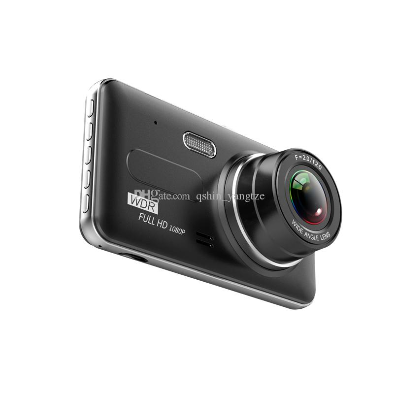4 inches new car DVR auto registrator cam 2Ch driving camcorder dual cameras 170°+120° wide view angle full HD 1080P night vision G-sensor