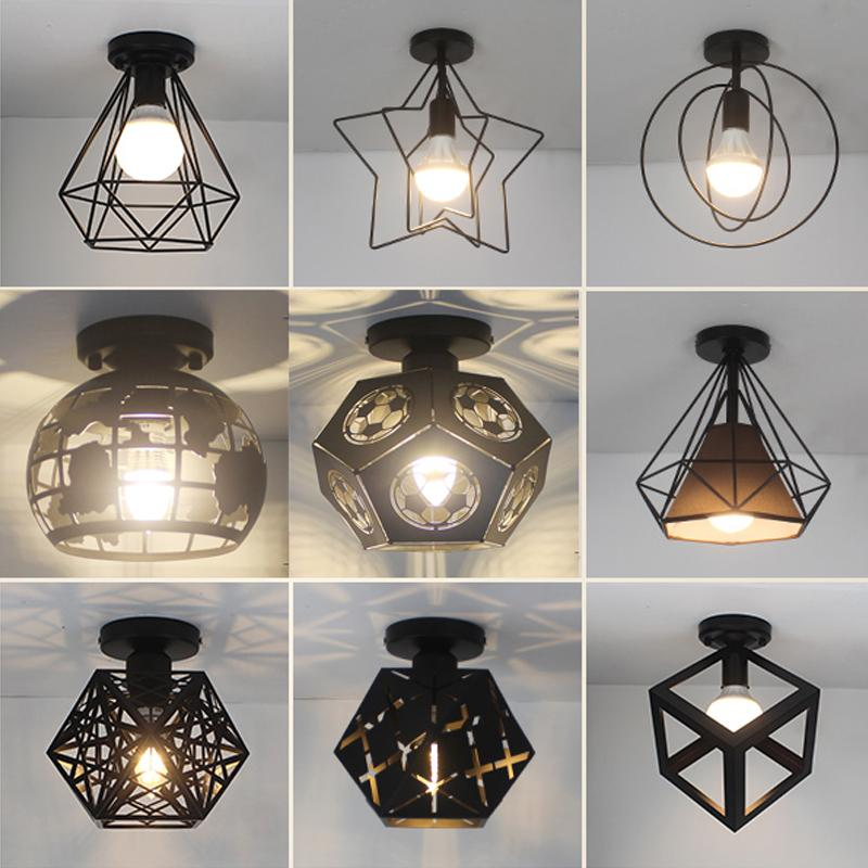 Ceiling light Metal Vintage Industrial Cage bird lamp E27 led Creative Retro Home Lighting light fixture diningroom decoration