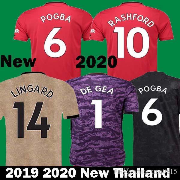 ab5f3159920 2019 2019 2020 POGBA RASHFOR Soccer Jersey United 19 20 Camiseta De Futbo  Man LUKAKU LINGARD DE GEA Goalkeeper Manchester Maillots Football Shirt  From ...