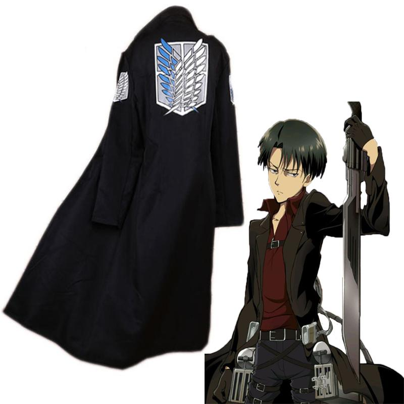 Anime Attack On Titan Cosplay Cloak Coat Levi Ackerman Cosplay Costume  Halloween Party Levi Black Cloak Coat Best Cosplay Wigs Movie Cosplay From  Xiatian4 1c8f4a541