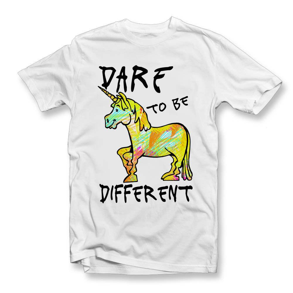 7b97a2f7 Dare To Be Different T Shirt | Unicorns | Unique | Unicorn T ShirtFunny  Unisex Casual Tshirt Top One Day T Shirt Best Site For T Shirts From  Lazyfruit, ...