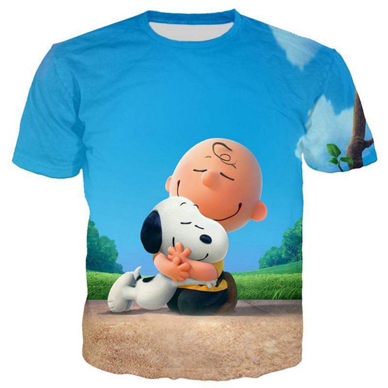 Compre Nueva Moda Mujer   Hombres Divertidos Dibujos Animados Snoopy 3D  Imprimir Casual Camiseta GT83 A  9.6 Del Hj272211689  370b122f9efaf