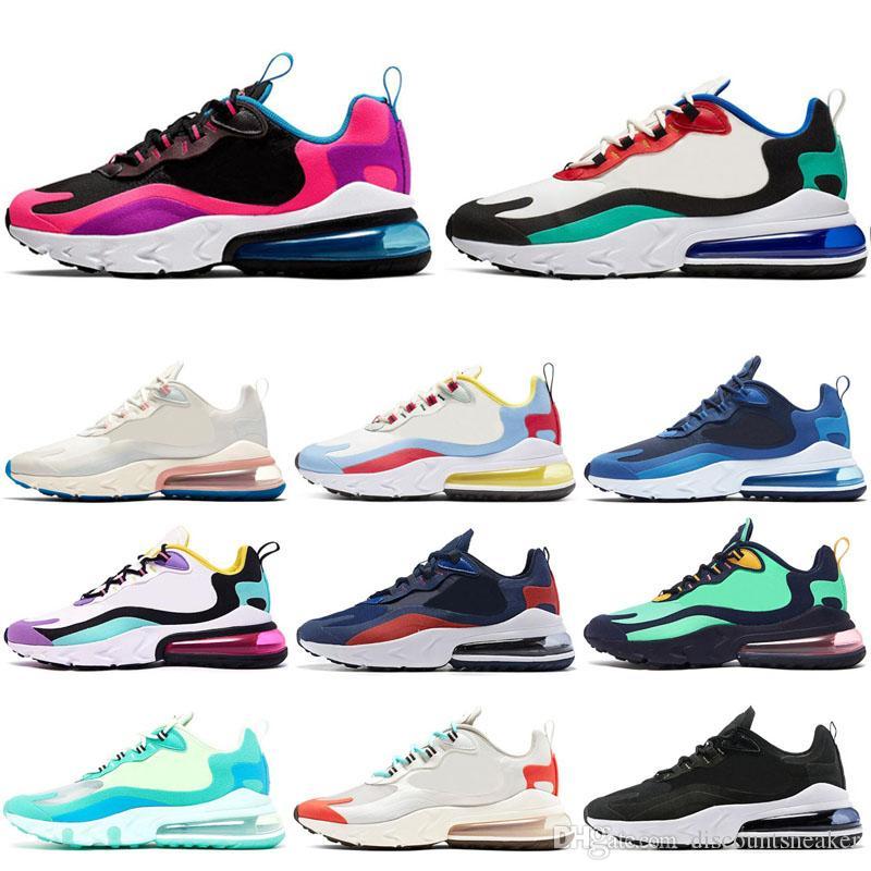 Nike air max 270 react 2019 Atmos Bred Laufschuhe OREO Runner Primeknit OG Japan Triple Schwarz Weiß Herren Damen Beige Runner Sport Sneakers 36 45