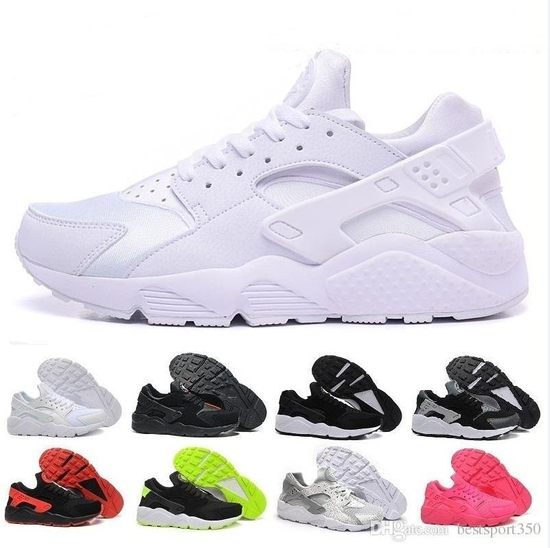 2c714bc01a0 Cheap Air Huarache 2 II Ultra Classical All White And Black Huaraches Shoes  Men Women Sneakers Shoes Size 36 45 Online For Sale Gold Shoes Mens Casual  Shoes ...