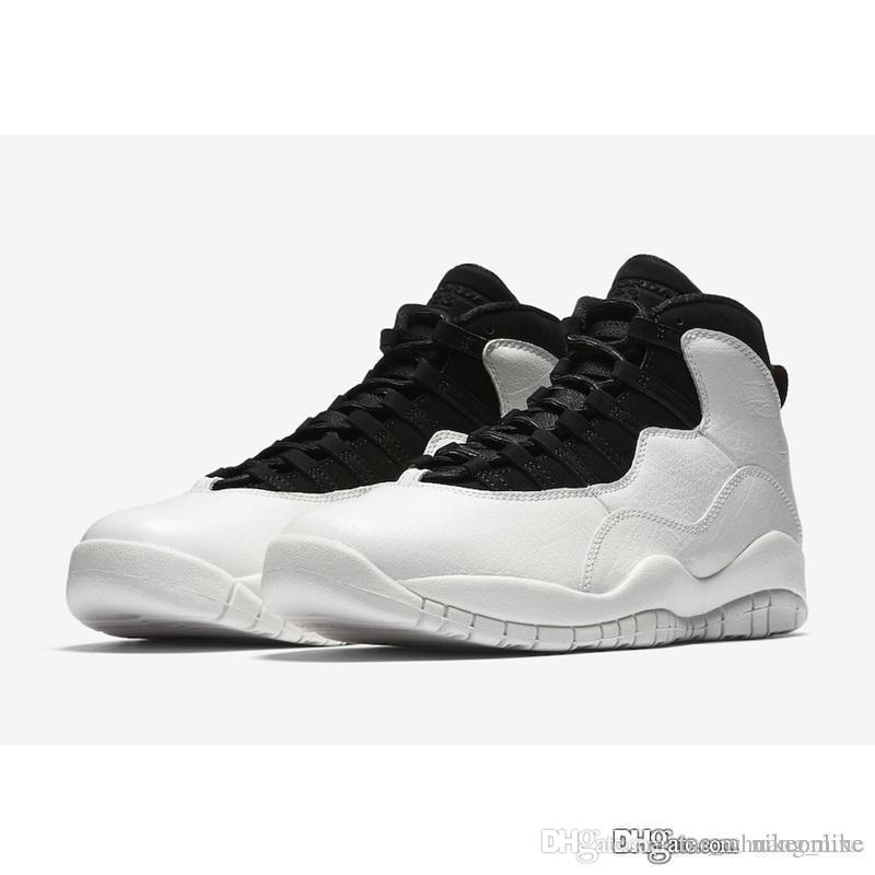 c8f275e317c626 2019 Cheap Mens Jumpman 10 X I Am Back Basketball Shoes AJ10 Black White  Cement Rio Paris LA Los Angeles Charlotte 10s Sneakers Boots With Box From  ...