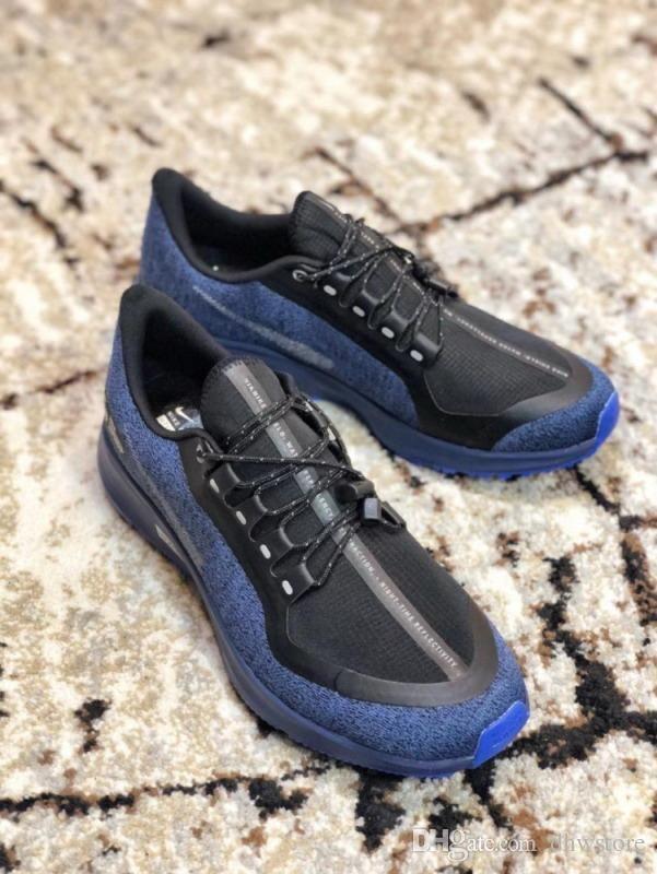 f2786a523782 Super Air Zoom Pegasus Turbo 35 Rn Shld Shoes Black Blue Sports Sneakers  Designer Luxury 2018 Brand Men Shoes Women Sneakers Superb Shoes Indoor  Soccer ...