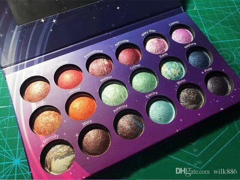 New Galaxy Chic Eye shadow palette 18 color Baked Eyeshadow Palette Galaxy Chic Baked eyeshadow palette shipping free