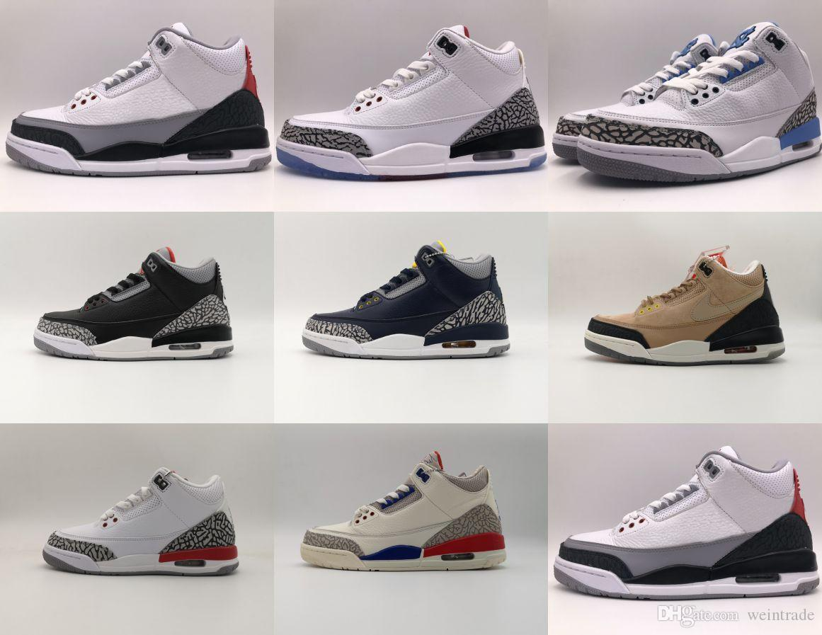 official photos 8d63c 4a046 Lemited retro basketball shoes aj 3s International Flight Black Cement  white Cement hth bio beige basketball 3s shoes for men women 36-46
