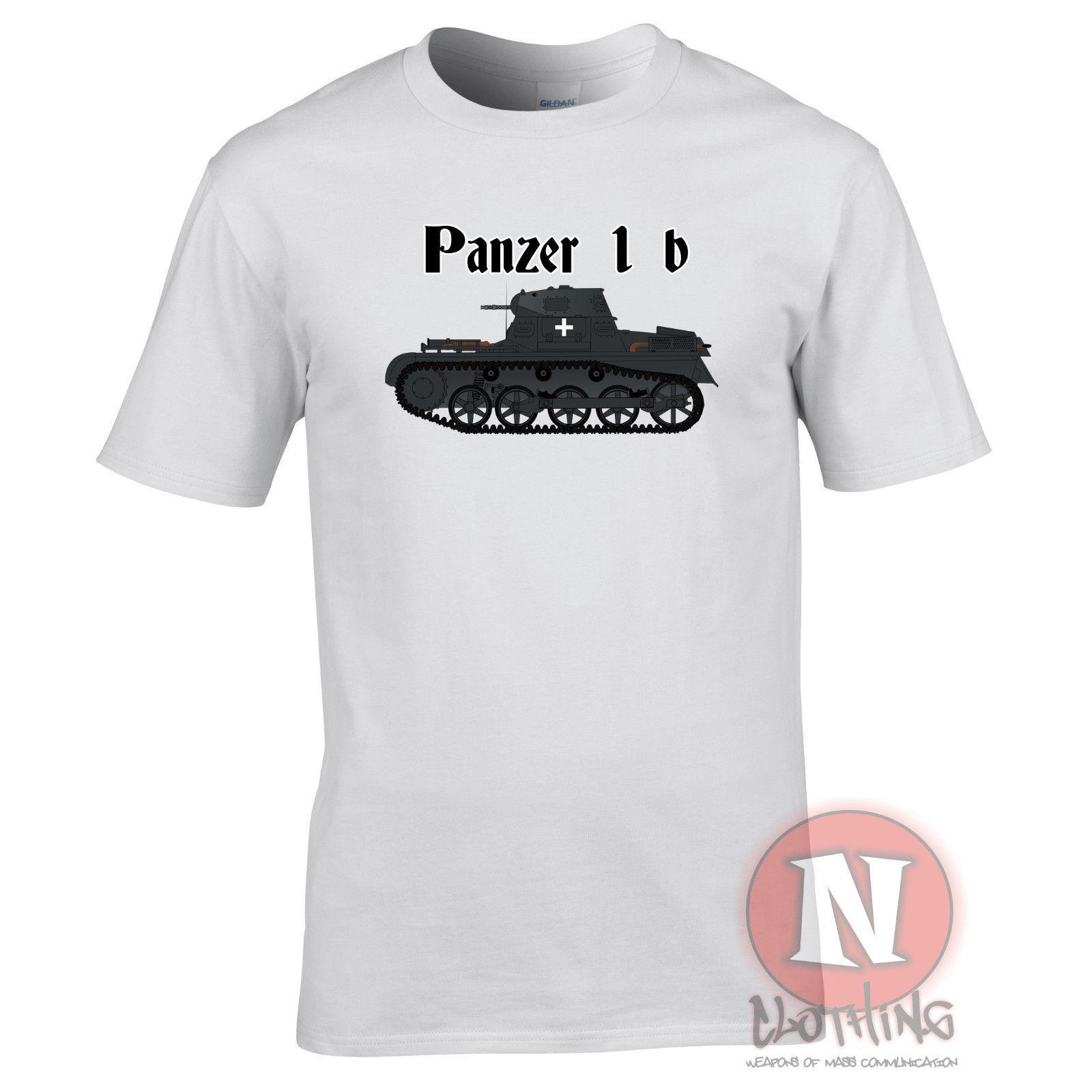 Panzer 1 B tank WW2 German military artillery armour T-shirt World of war  Tanks