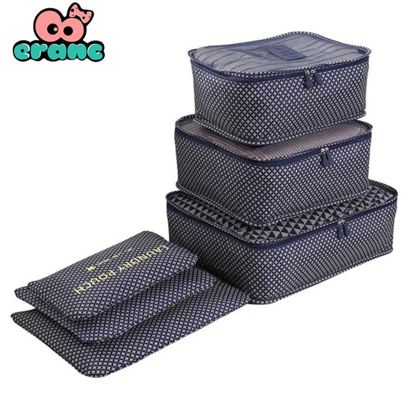 6PCs/Set Travel Storage Bag Clothes Tidy Pouch Luggage Organizer Portable Container Waterproof Storage Case Drop Shipping