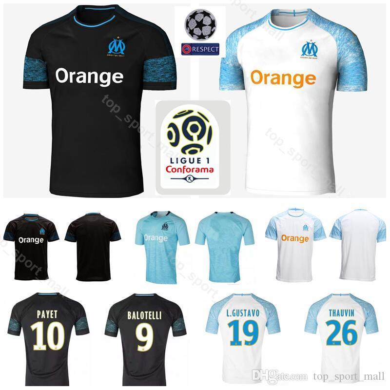 Compre 2018 2019 FC Marselha Jersey De Futebol Da Ligue 1 Maillot De Pé  OM26 Da TAAUVIN 19 Gustavo 10 PAYET 28 GERMAIN Kits De Camisa De Futebol De  ... d5f6ed45adf5d