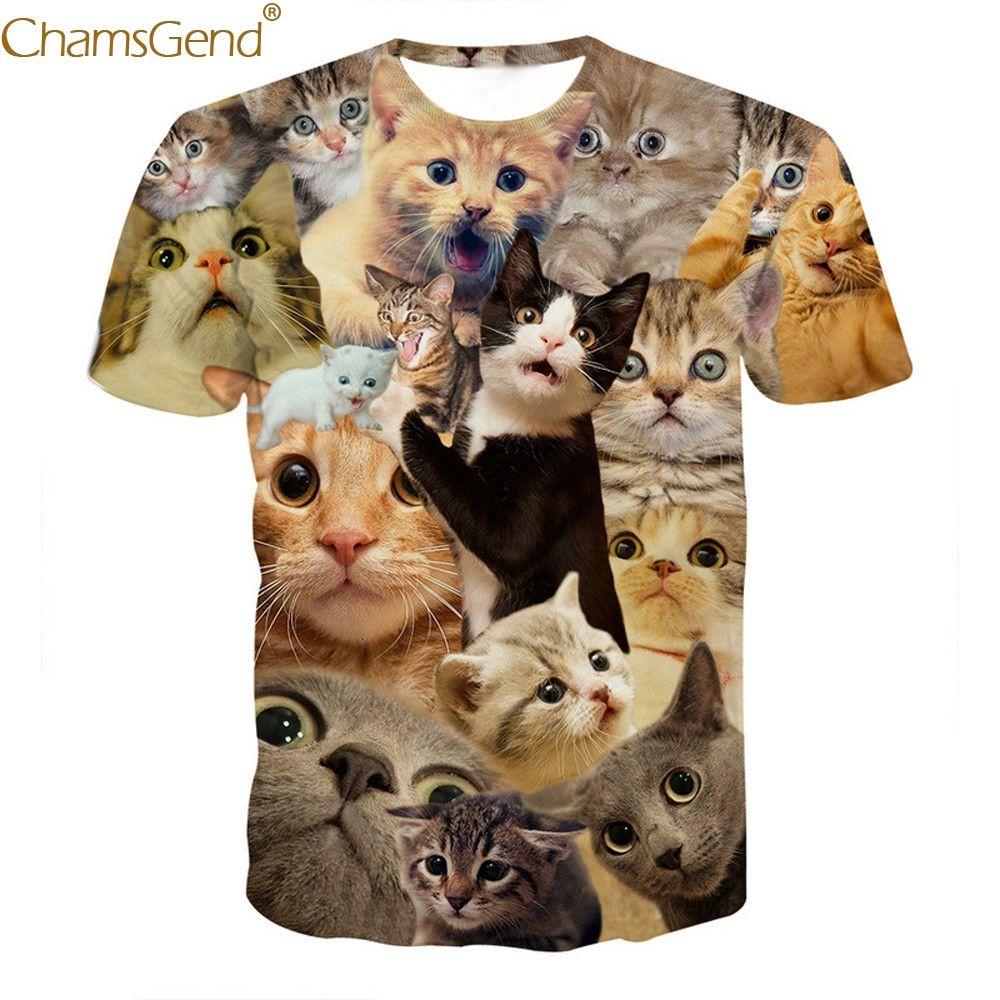a8fa2d03d63 Summer Men T-shirt Fashion 2019 3D Print Animal Short Sleeve Men T ...