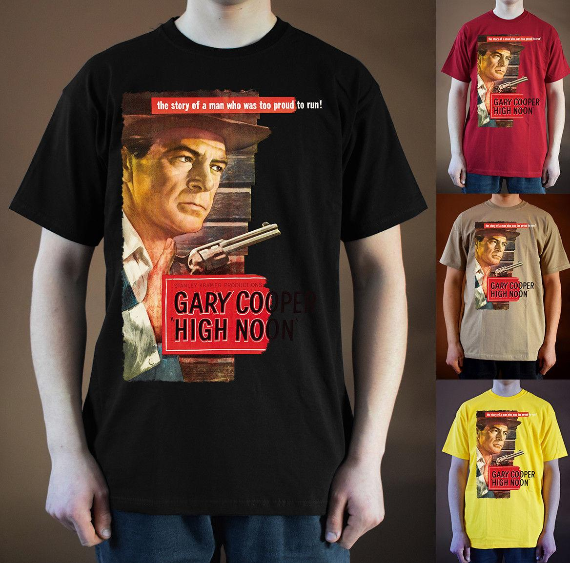 56d5a58f4cb0f HIGH NOON Poster ver. 2 T-Shirt Gary Cooper (Black, yellow) S-5XLFunny free  shipping Unisex Casual top