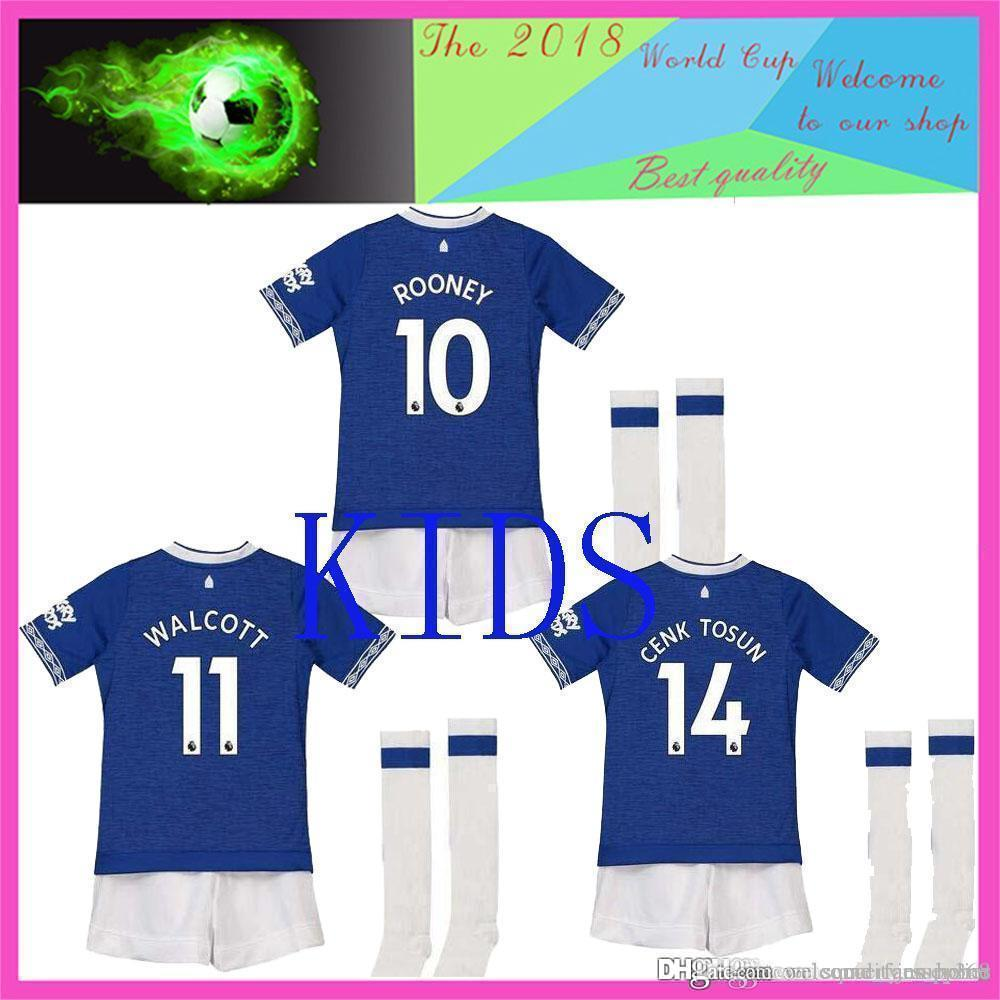 wholesale dealer 511ca 073da kids kit 2018 Walcott everton soccer jerseys ROONEY 18 19 everton home  SIGURDSSON CENK TOSUN FUNES MORI football shirts