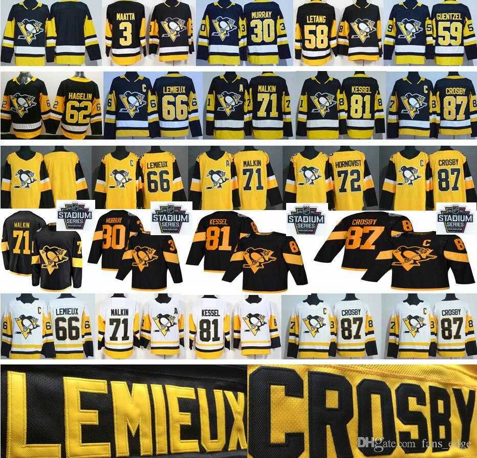 2019 2019 Stadium Series Hockey Jerseys 87 Sidney Crosby 58 Kris Letang 30  Matthew Murray 66 Lemieux 81 Phil Kessel 71 Evgeni Malkin Jersey From  Fans edge d1fe398db