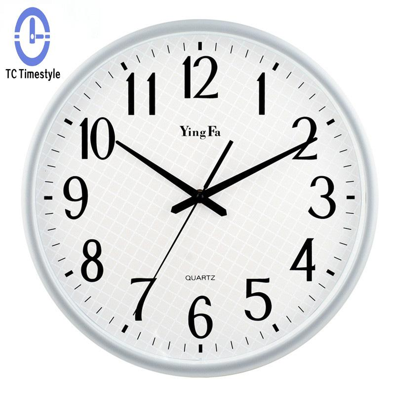 14 Inch Large Wall Clock Vintage Modern Design Mute Table Round