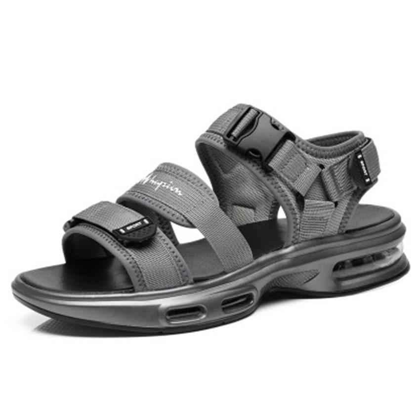 men summer designer sandals high quality black and gray men summer breathable shoes Air cushion sandals