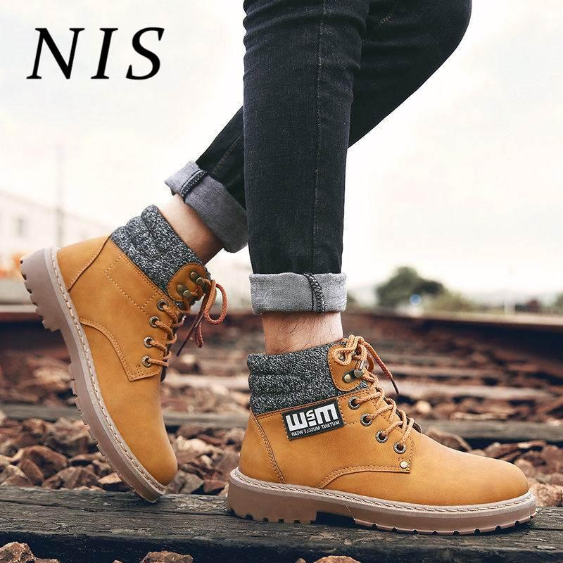 28510e7e9630e NIS Fashion Classical Men Boots Retro Knight Ankle Boots For Mens  Motorcycle Booties Timber Land Shoes High Top Sneakers Botas Winter Boots  For Women ...