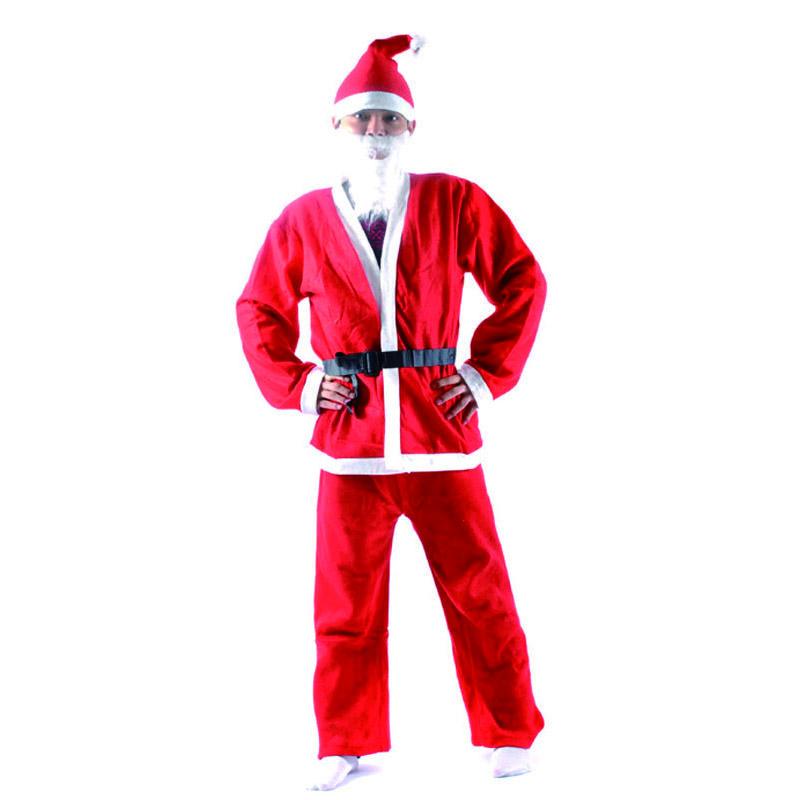 Plus Size Christmas Costumes.Costume For Men 2017 New Arrival Plus Size Adult Costume Santa Claus Suit Christmas Costumes For Men Coat Pants Beard Belt Hat