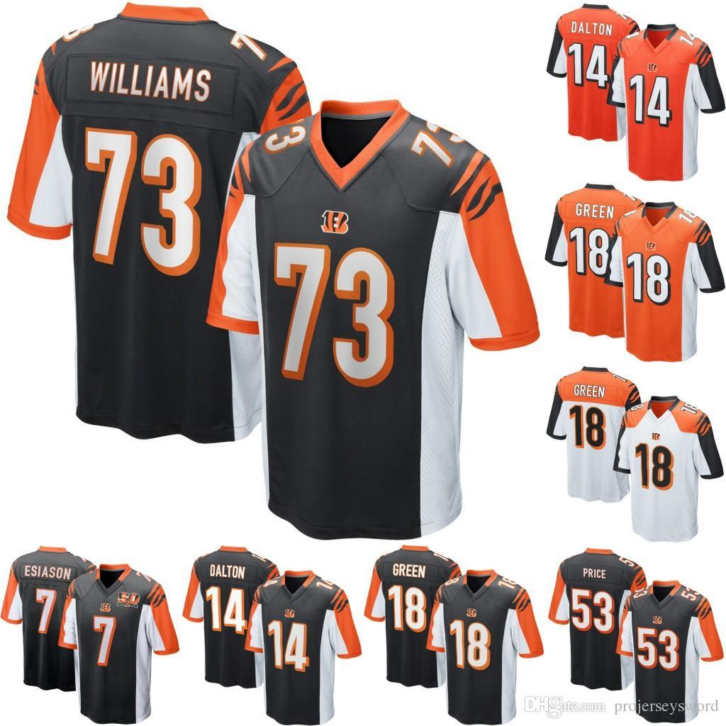 quality design bc3c8 67d60 Cincinnati 7 Curtis Akins 14 Andy Dalton 53 Billy Price 18 A.J. Green 83  Tyler Boyd 16 Cody Core 28 Joe Mixon Bengals QB Football Jerseys
