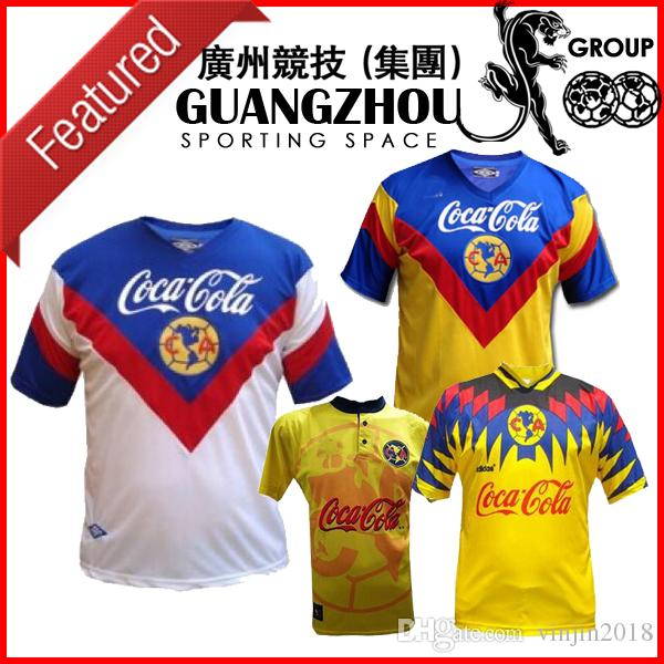 d107416019a 2019 1993 1994 CLUB AMERICA RETRO SOCCER JERSEYS 93 94 HOME AWAY 95 96 99  MEXICO LEAGUE 1999 JERSEY FOOTBALL 1995 1996 SHIRTS From Vinjin2018
